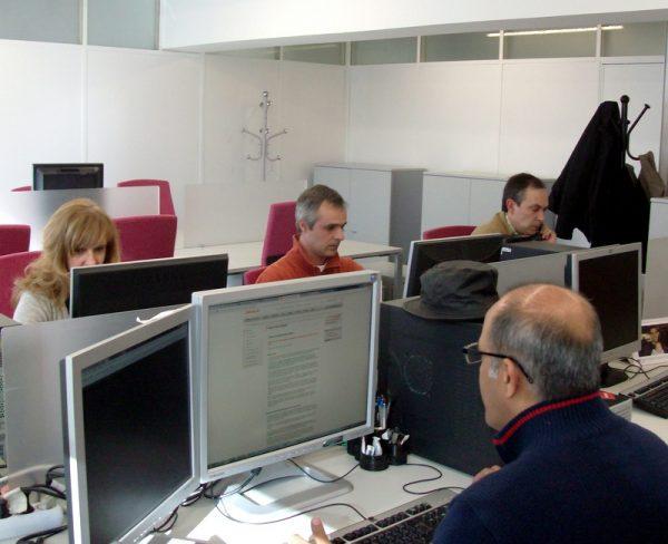 Sala de trabalho da SPMS