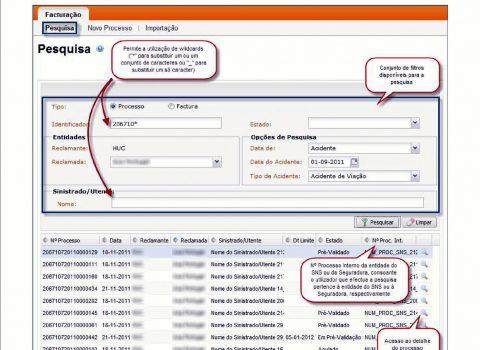 Exemplo de página da plataforma FHS