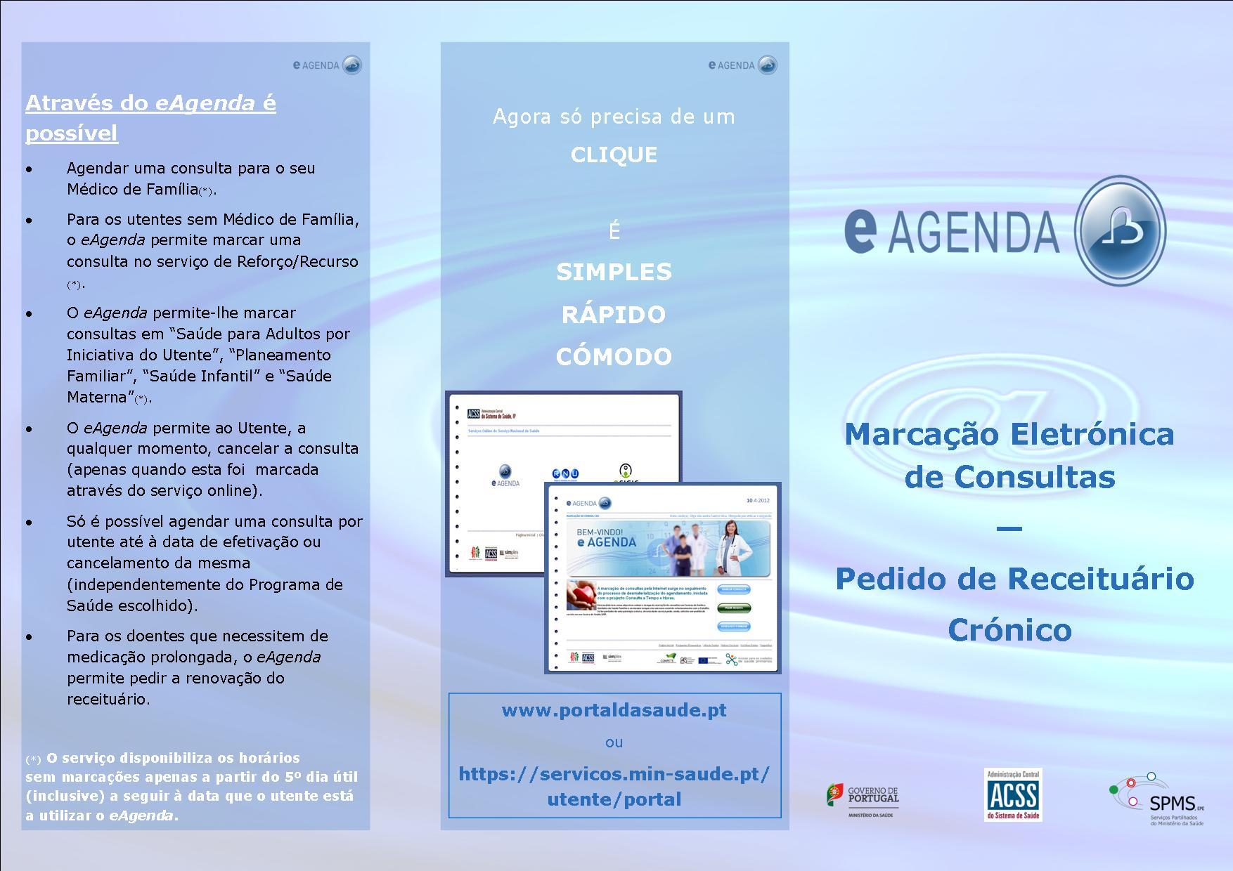 Exemplo da brochura eAgenda