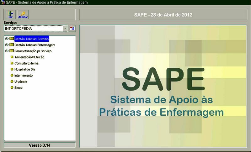 Imagem da aplicação SAPE