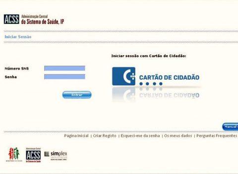 Página de login do eAgenda