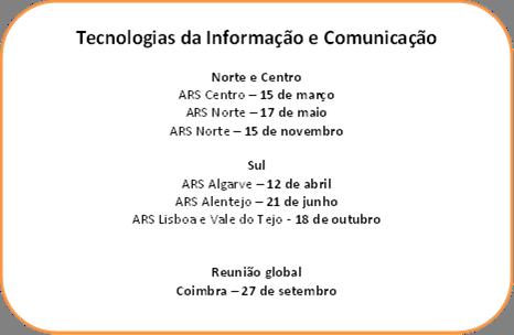 Calendário reuniões TIC
