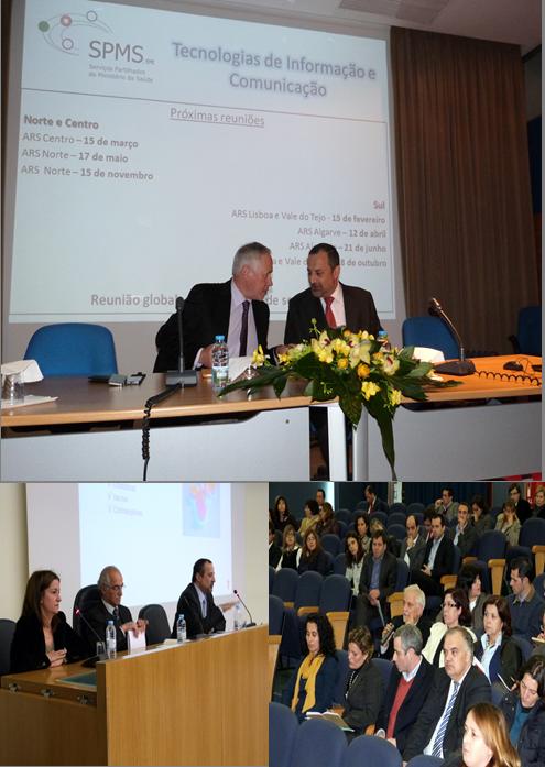 Várias imagens das reuniões realizadas em Lisboa e no Porto