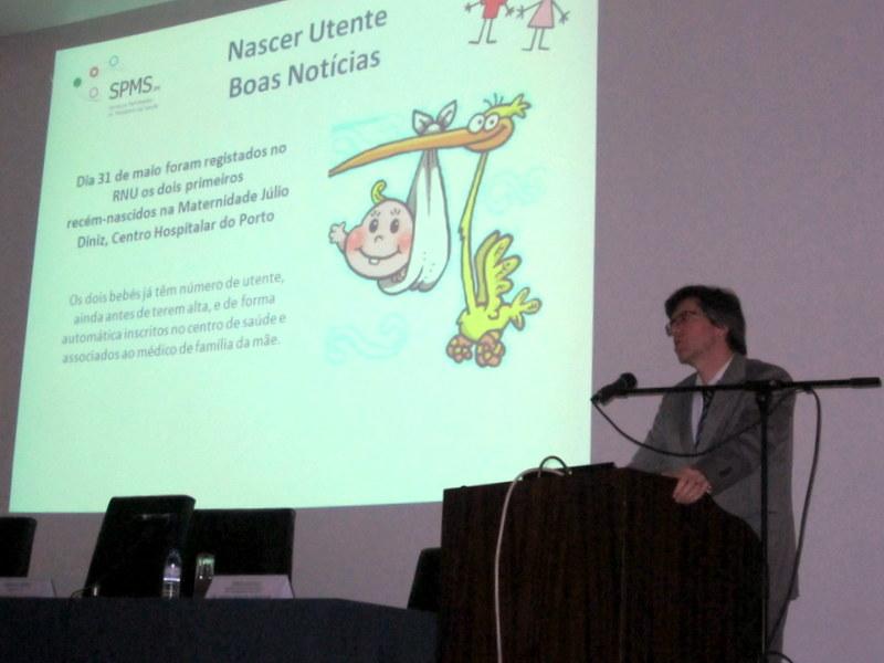 Professor Henrique Martins na apresentação do Plano Nacional de Saúde Infantil e Juvenil