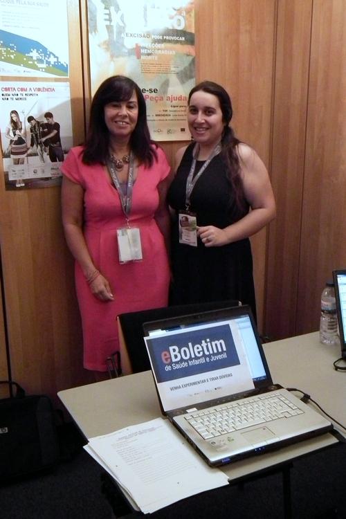 Bárbara Freitas da DGS (à esquerda) e Arlete Monteiro da SPMS