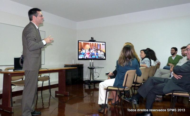 """O Presidente do CA da SPMS, Prof.Henrique Martins, na sessão de abertura do """"SPMS Open Day to University"""""""