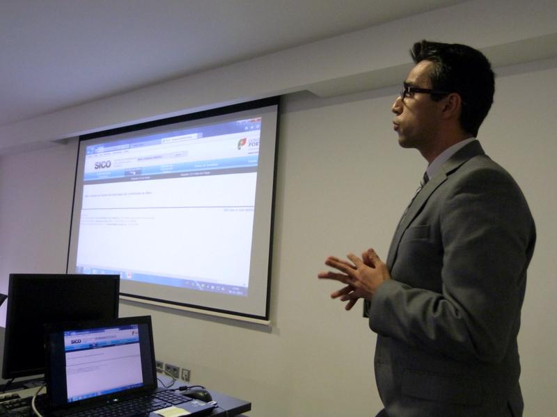 apresentação do SICO, por Cristiano Marques, gestor de projeto na SPMS