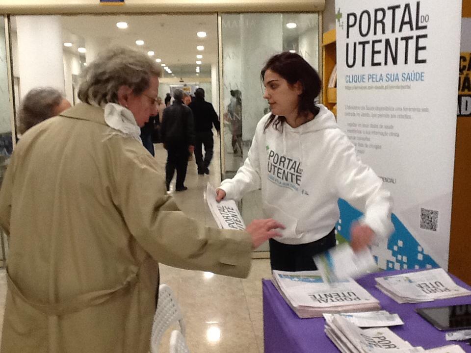 Imagem de campanha em Lisboa
