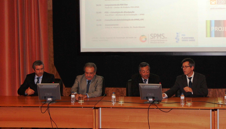 O Secretário de Estado da Saúde, Manuel Teixeira, encerrou a sessão acompanhado pelo Conselho de Administração da SPMS