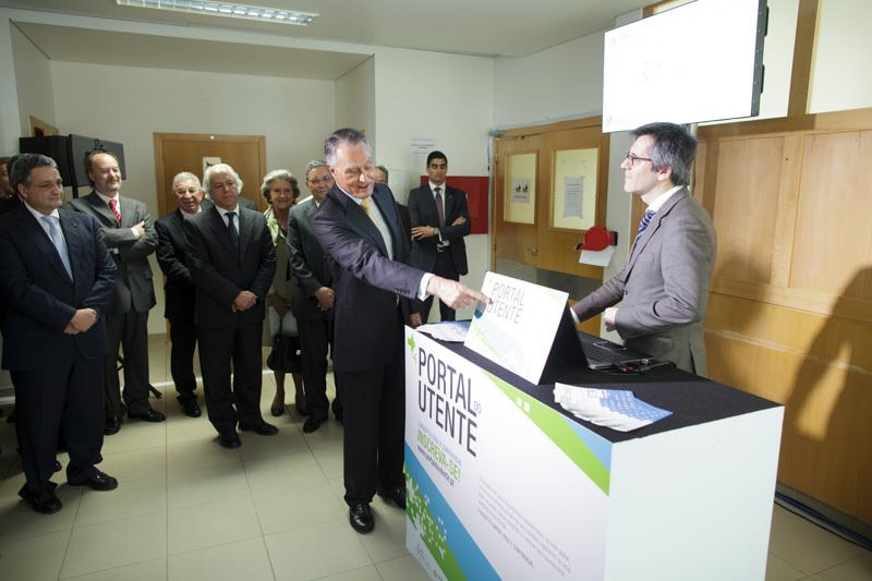 Presidente Cavaco Silva na apresentação do Portal do Utente em Cantanhede (fonte site da Presidência da República)