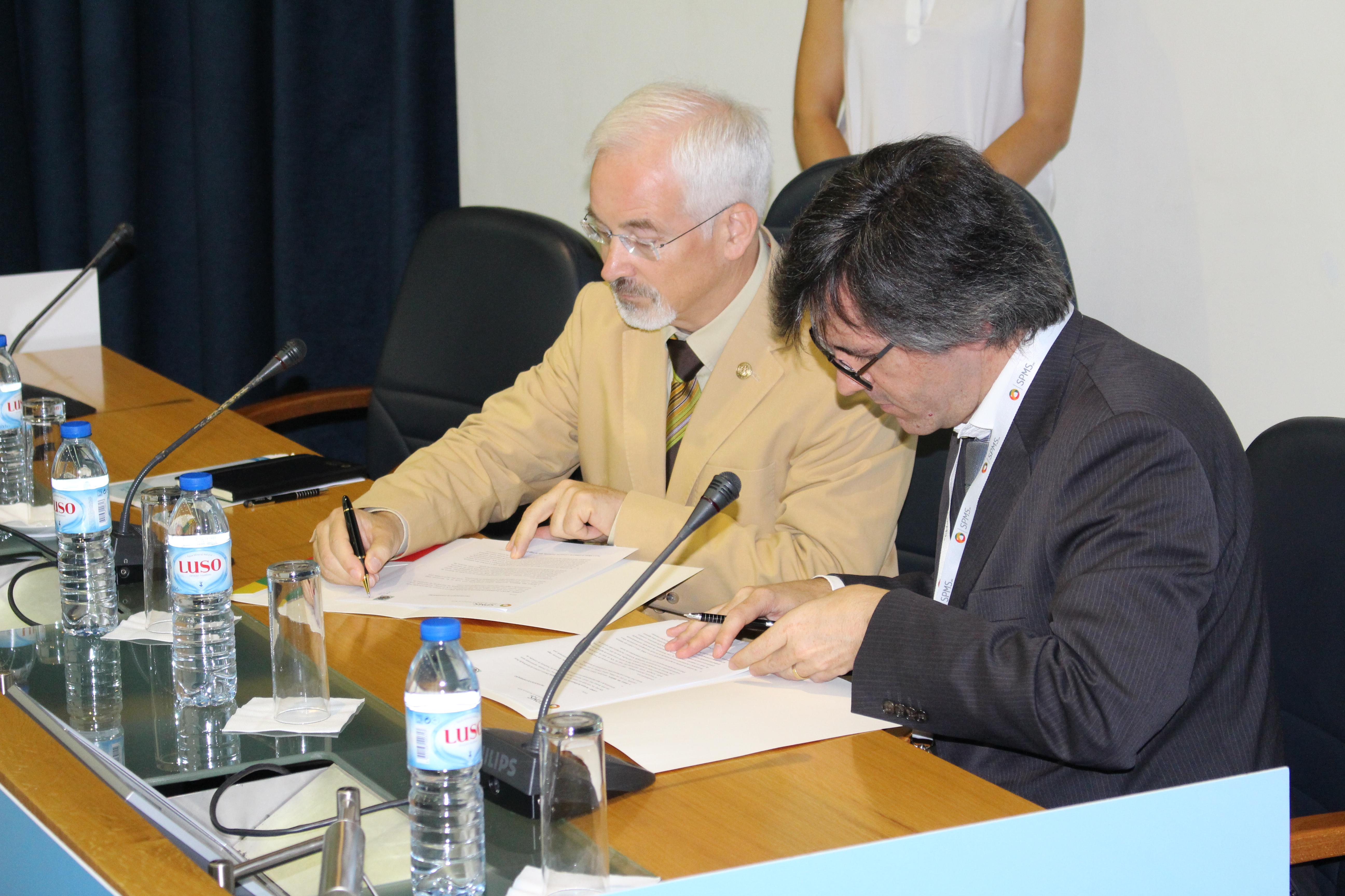 José Manuel Silva, Bastonário da Ordem dos Médicos e Henrique Martins, Presidente do Conselho de Administração da SPMS