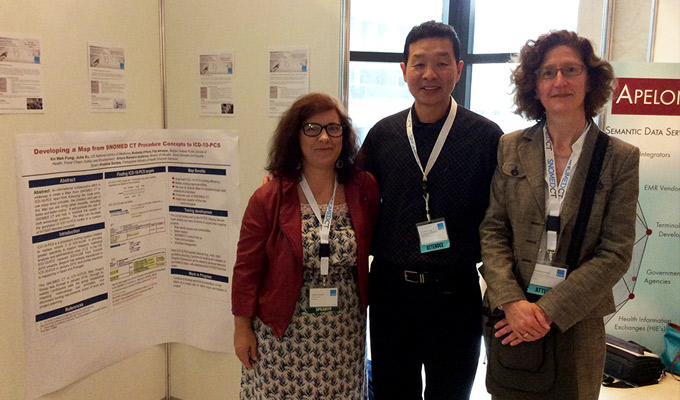 Anabela Santos da SPMS, com Kin Wah Fung dos EUA e Arabella D'Havé da Bélgica
