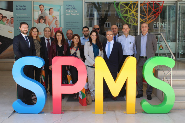 comitiva libanesa entrada edificio spms