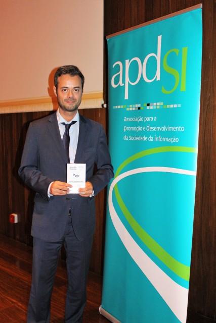 Em representação da SPMS, EPE, Bruno Trigo recebeu galardão que premeia a Área da Transparência do Portal SNS