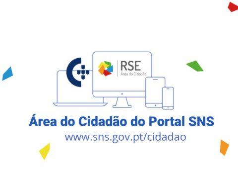 imagem em desenho de um smartphone, tablet, portátil e desktop, área do cidadão
