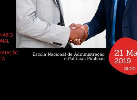 banner I seminário nacional sobre contratação publica