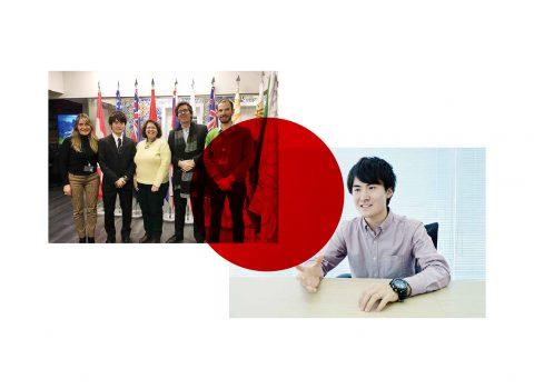 Estudante japonês na SPMS