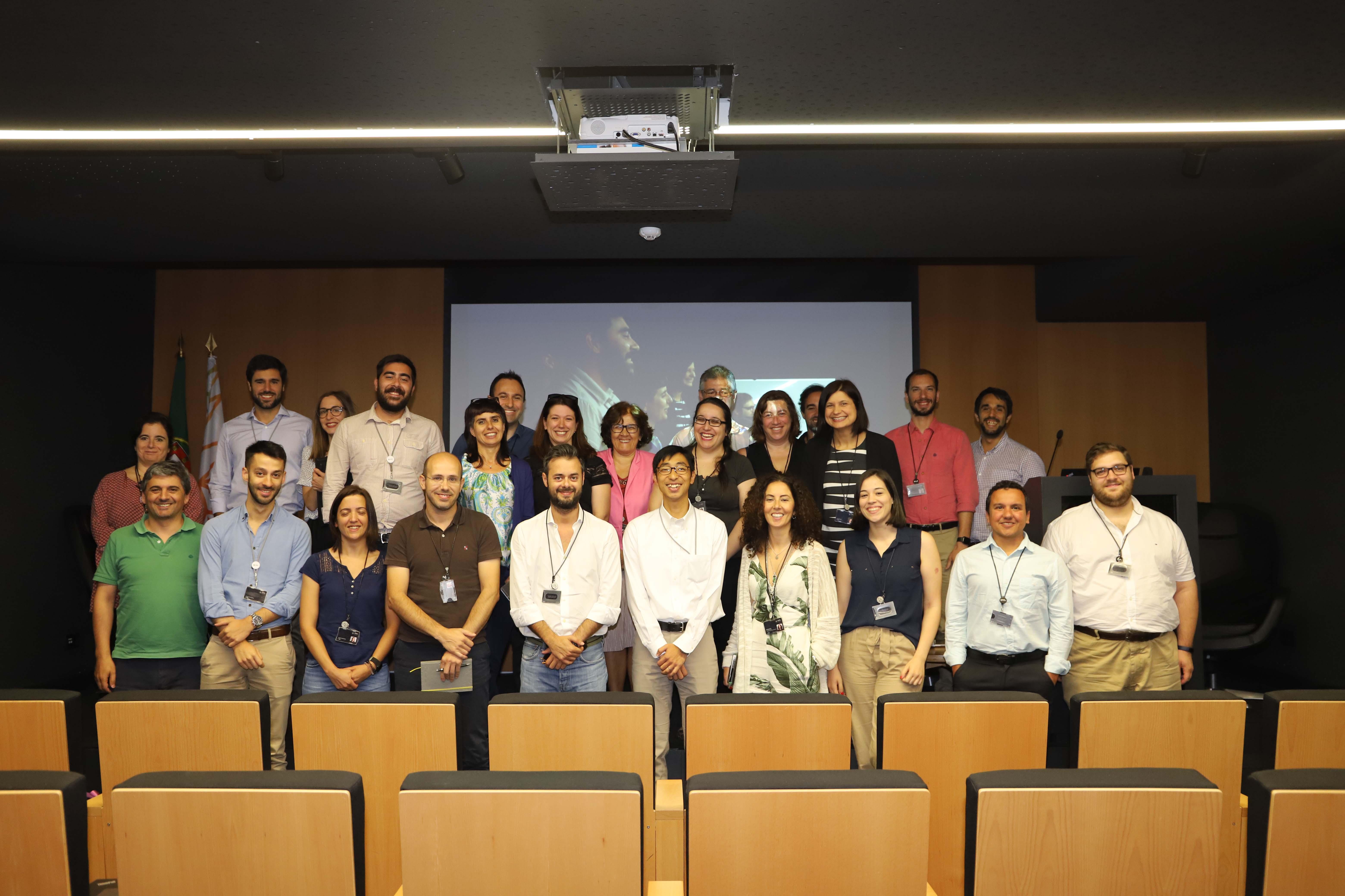 visita estudante japonês à SPMS foto de grupo