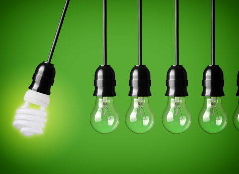 conjunto de lampadas