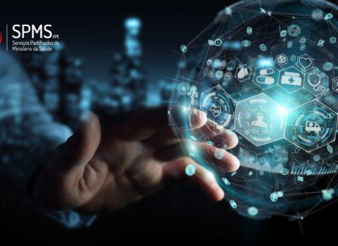 evolução tecnológica mão e circuito informatico