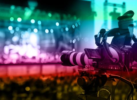 Camara de filmar num concerto