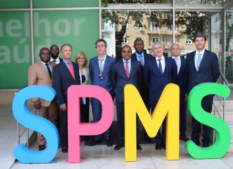 Comitiva angolana na SPMS