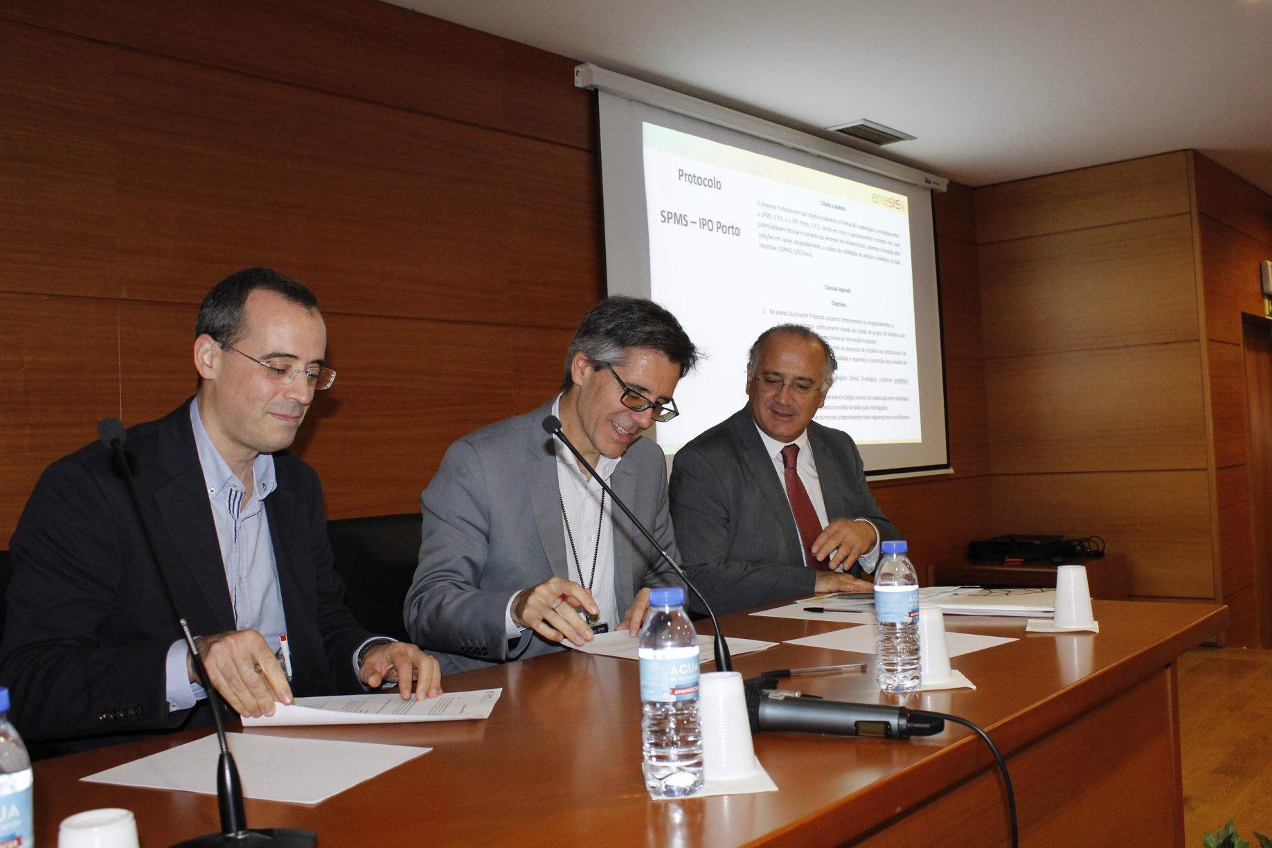 assinatura protocolo SPMS IPO Porto