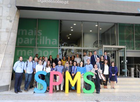 comitiva brasileira na SPMS foto coletiva