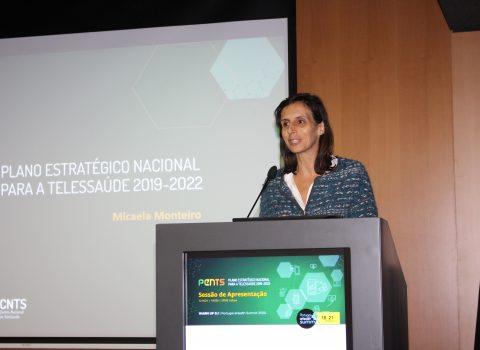 Secretária de Estado Adjunta da Saúde no lançamento do PENTS