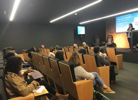 apresentação no Workshop de reestruturação da Área do Cidadão nas instalações da SPMS