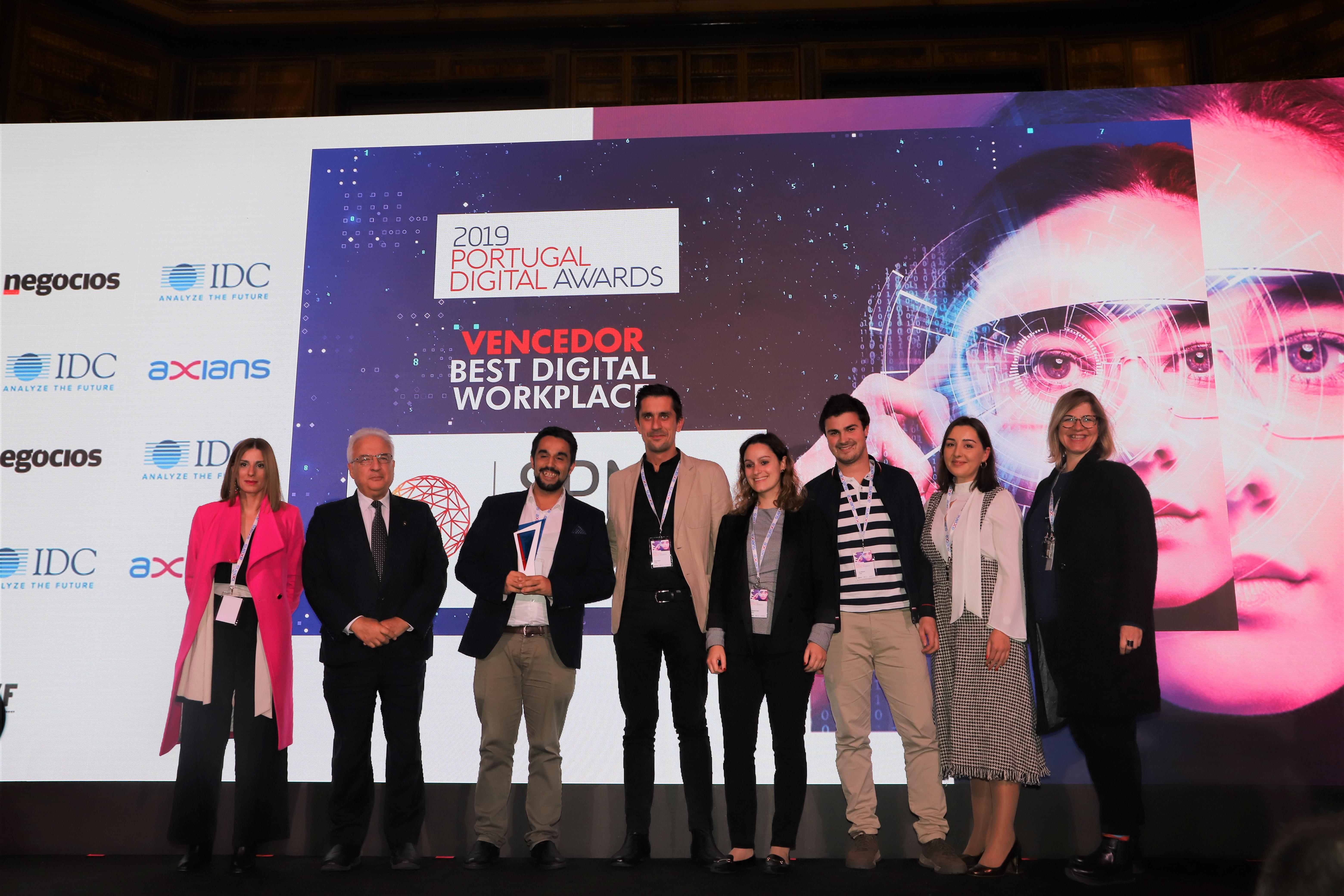 Equipa SPMS no Portugal Digital Awards