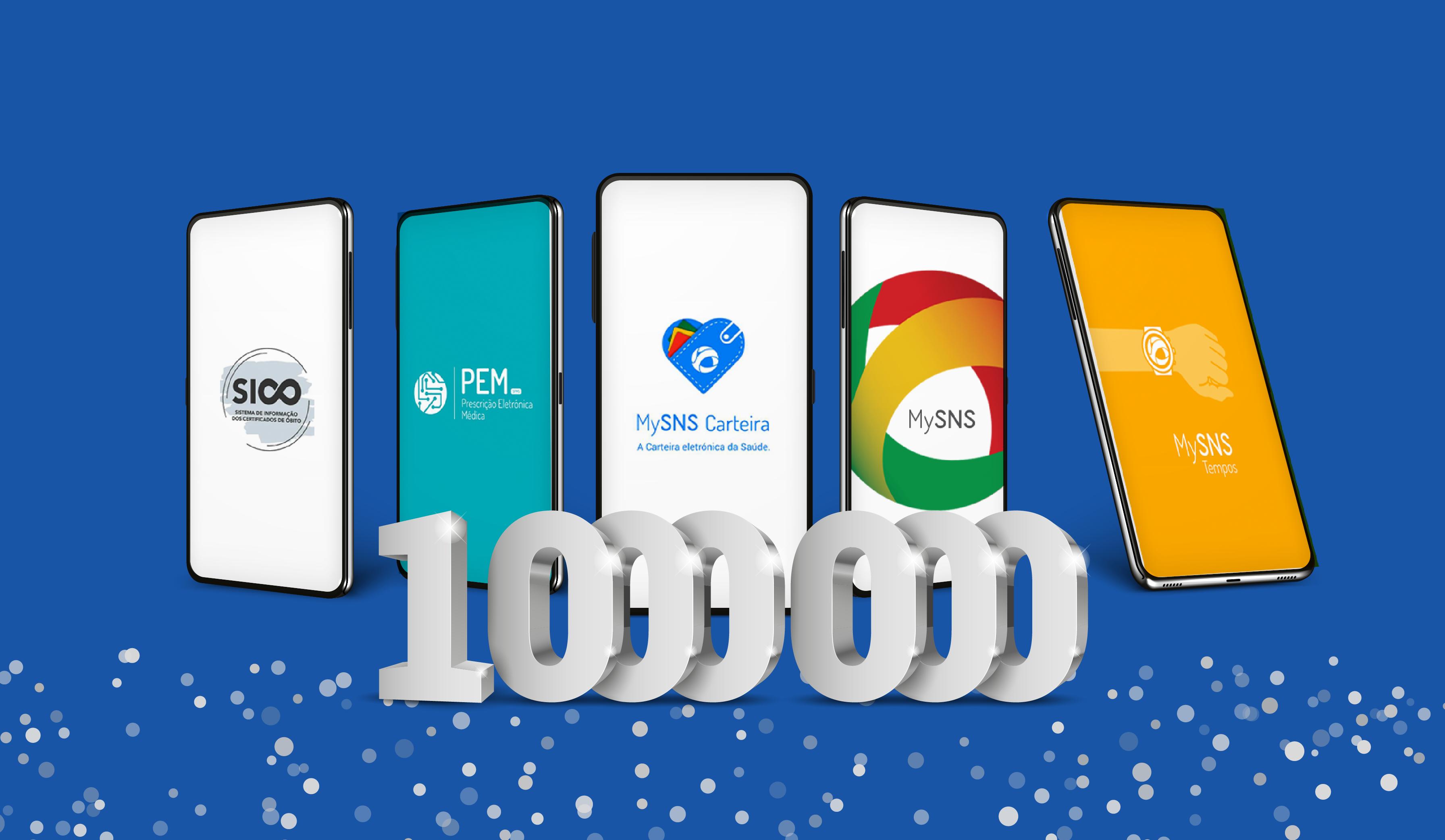 Apps desenvolvidas pela SPMS com mais de 1 milhão de downloads